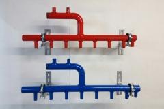 Коллектор отопления из черной ВГП трубы