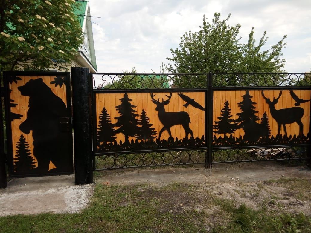Ворота вырезанные плазмой фото